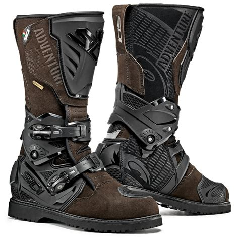brown motocross boots sidi adventure 2 waterproof tex boots brown