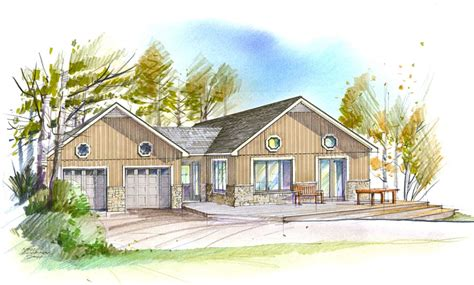 Executive Bungalow House Plans Home Design Plans Three Bedroom Executive Bungalow With Two Car Gara