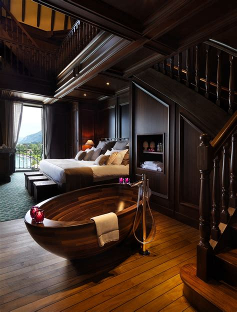 unique home interior design exquisite wooden bathtub designs imprinting a unique room