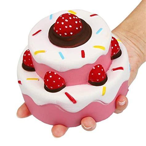 Panda Birthday Cake Squishy nibesser jumbo scented rising squishies cheeki pink