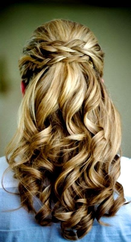 braided half up waterfall kids hair ideas pinterest bride s braided half up waterfall wedding hairstyle