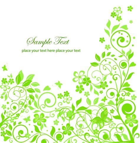 flower design eps green floral design vector illustration free vector