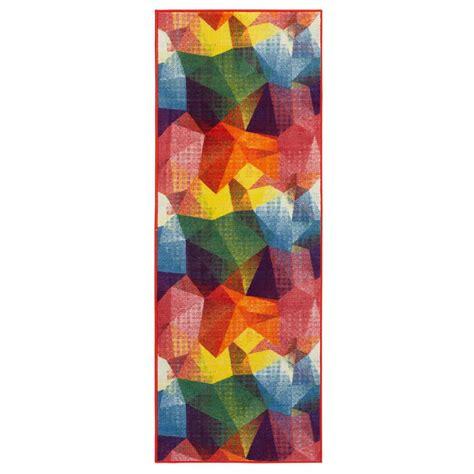 ottomanson rainbow collection abstract pattern design