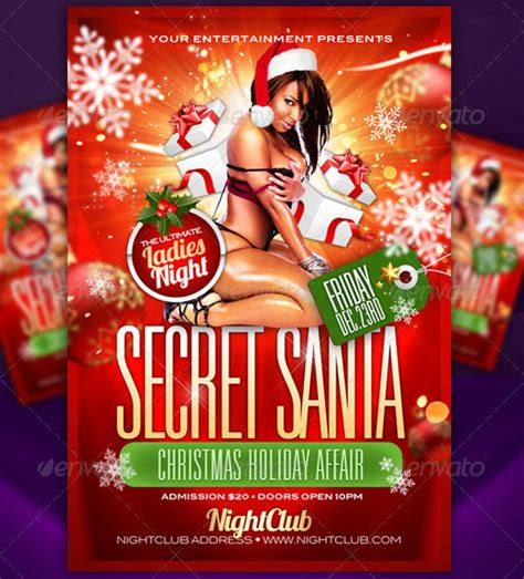 The Big List Top 100 Flyer Templates For 2011 Secret Santa Flyer Templates