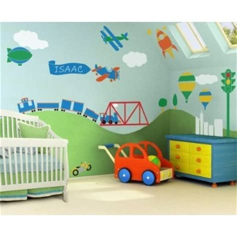 Transportation Nursery Decor Modern Interior Car Themed Baby Room