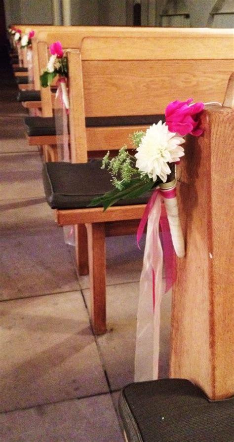 Dekoration Kirche Hochzeit by Dekoration Zur Trauung Bankschmuck Kirche Kommunion