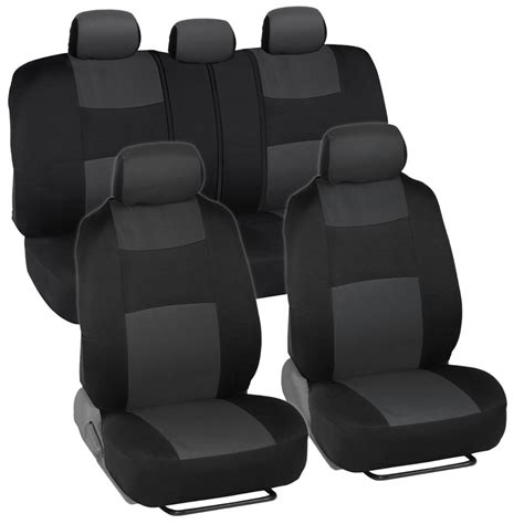 bench car seat covers car seat covers for honda civic sedan coupe charcoal black split bench ebay