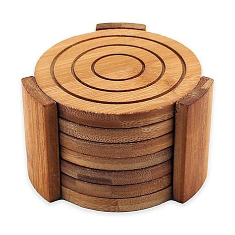 bed bath and beyond coasters berghoff 174 bamboo 7 piece coaster set bed bath beyond