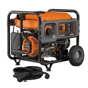 lowe s home generators generac rs7000e gas powered 7 000 watt portable generator
