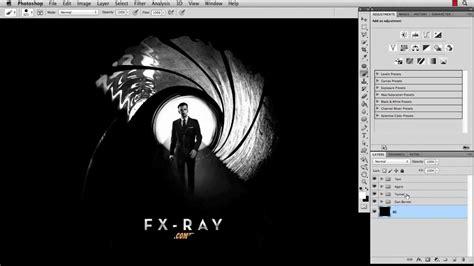 Photoshop Tutorial James Bond | photoshop tutorial skyfall poster youtube