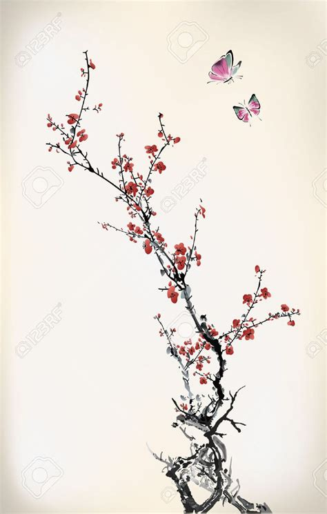 Y Branch Rucika D 4 cherry blossom tree branch drawing www imgkid the image kid has it
