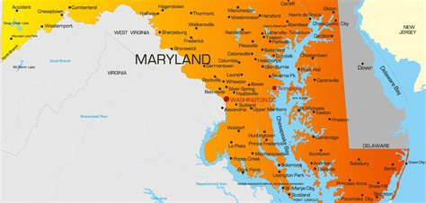 of maryland colors maryland map guide of the world