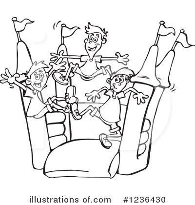 bouncy castle coloring page castle jumper clipart clipart suggest