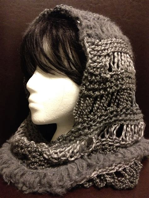 free pattern hooded cowl charity s loom knits changes hooded cowl