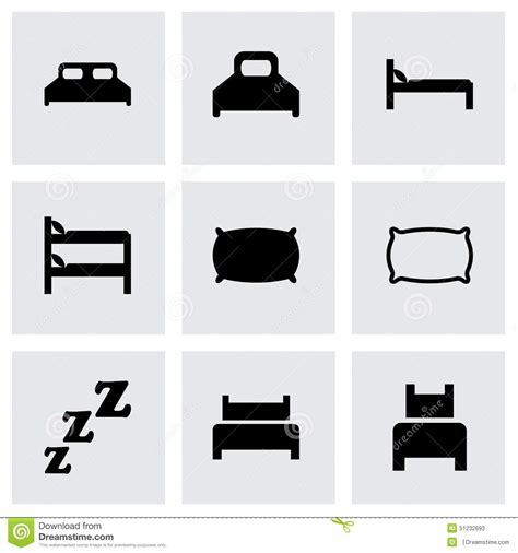bed vector vector bed icon set stock vector image 51232693