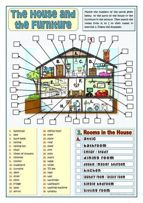home design vocabulary the house and the worksheet worksheet free esl printable