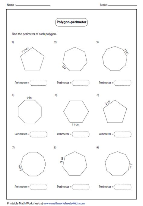 Polygon Shapes Worksheet by Polygon Worksheets