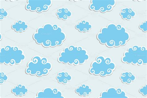 cloud pattern tumblr clouds illustrations on creative market