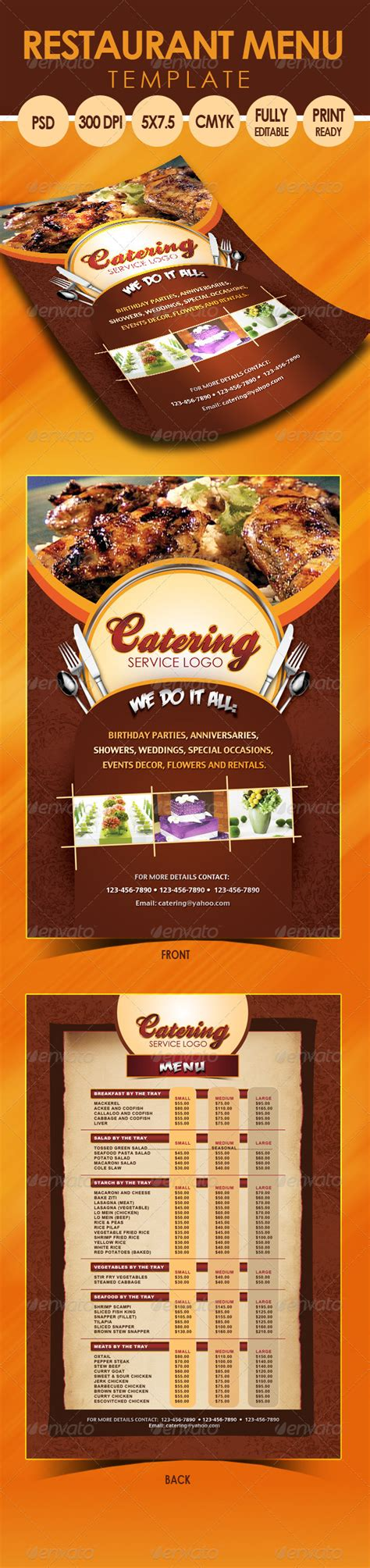 Catering Menu Template Flyer Print Templates Flyers Restaurant Themesquirrel Catering Flyers Templates Free