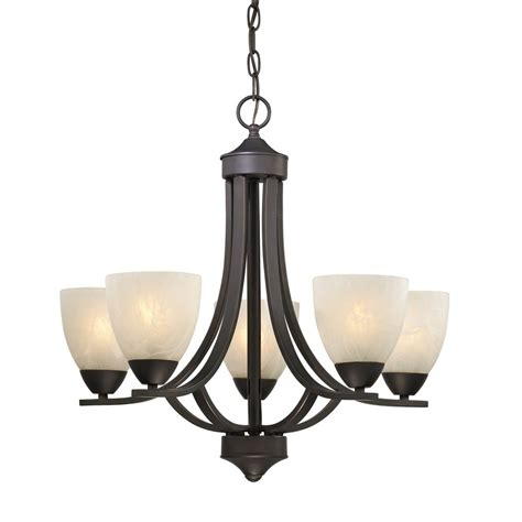 Replacement Chandelier Shades 5 Light Chandelier With Alabaster Glass In Bronze 222 78