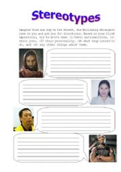 challenging stereotypes activities stereotype worksheets wiildcreative