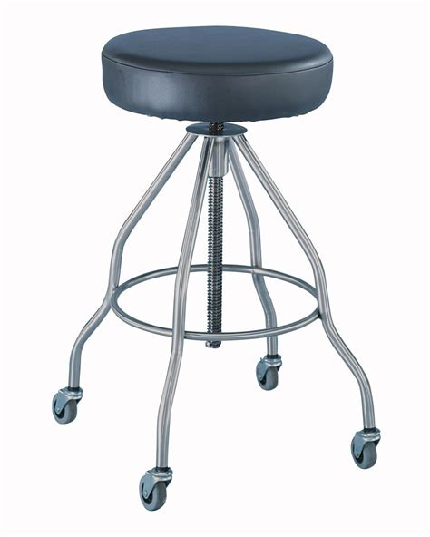 Padded Stool by Blickman Health Stool Revol Padded Seat Casters