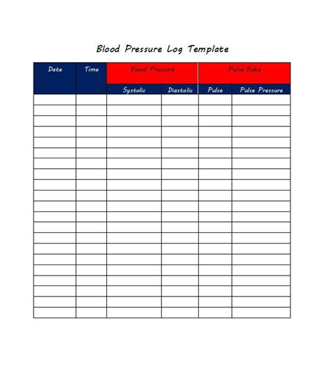 blood template blood pressure daily log colomb christopherbathum co