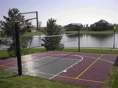 cost to build a backyard basketball court backyard basketball court dimensions design and ideas