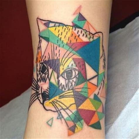 geometric cat tattoo cat tattoos inspiring tattoos