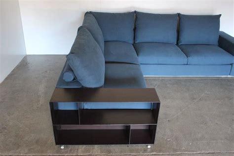 flexform groundpiece sofa flexform groundpiece sectional l shape sofa in blue