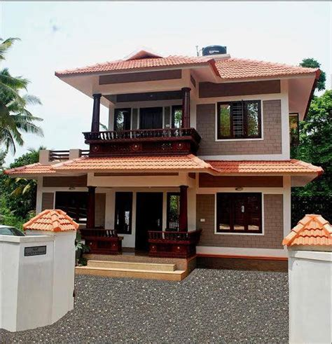 design of kerala style home double floor kerala home design 1100 square feet