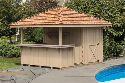 outdoor bar cabanas outdoor bars cedar craft storage solutions