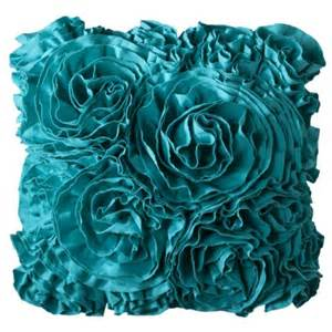 Xhilaration Bedding Jersey Ruffle Decorative Pillow Everything Turquoise