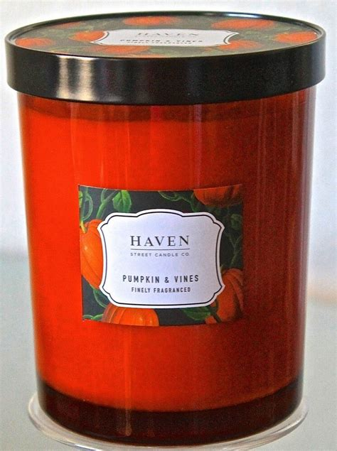 haven street candle pumpkin vine cream soy wax orange
