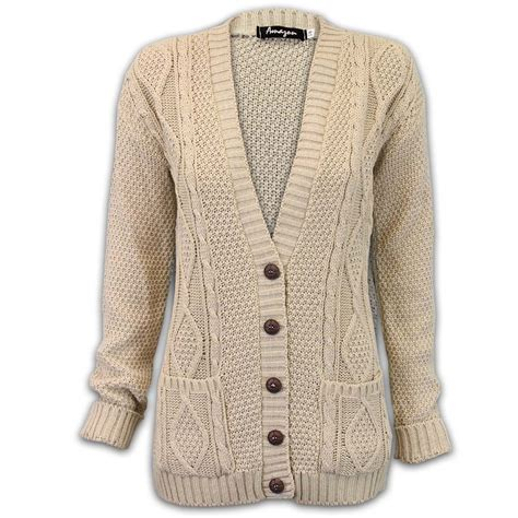 Chunky Cardigan cardigans womens knitted jumper cable jacquard