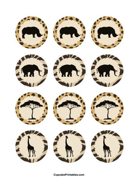 free printable zoo animal cupcake toppers printable safari cupcake toppers