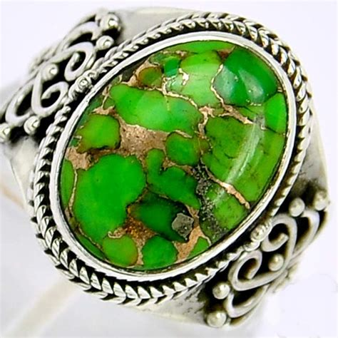 Cincin Batu Akik Pirus kemilau batu akik pirus hijau