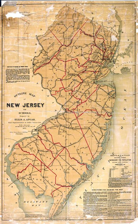 america map new jersey new jersey map free large images