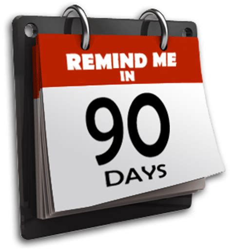 Calendar 90 Days Literary Carrie The 90 Day Rule
