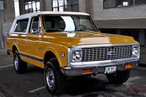 Chevrolet K5 Blazer 1972 Chevrolet K5 Blazer Cst Custom 4x4 Wheatland Yellow