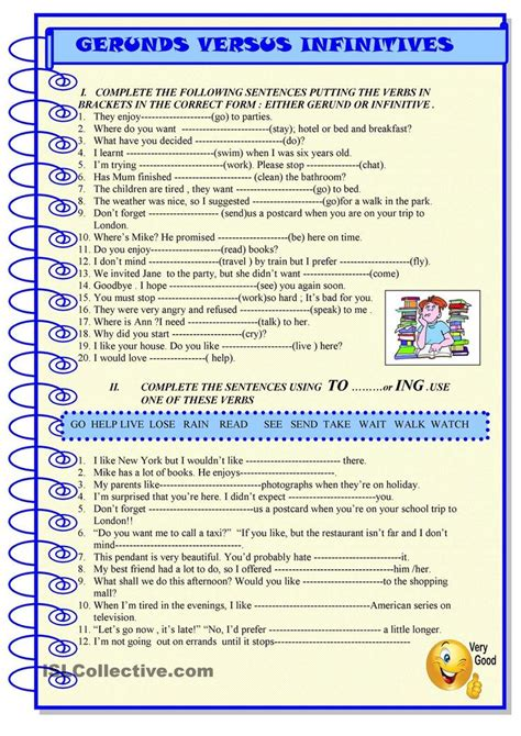 esl verb pattern games esl gerund or infinitive exercises pdf esl gerunds and