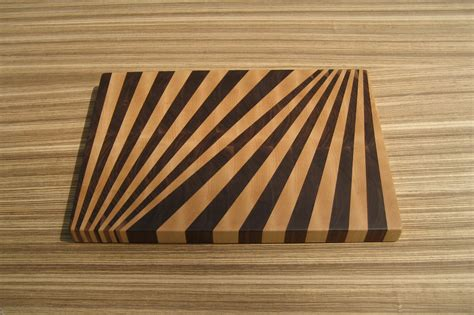 cutting board designer fan pattern end grain cutting board