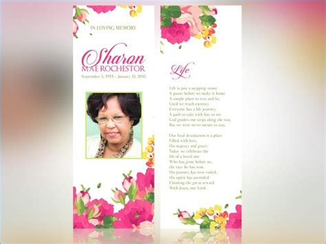 memorial bookmarks template free funeral bookmarks template free hondaarti org