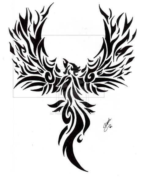 phoenix design tattoo nail designs tribal tattoos for