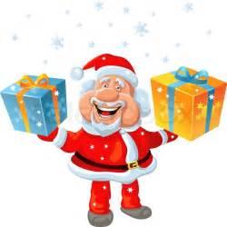 Christmas Tree Shop Toys - vector a happy santa claus holding a gift vector colourbox