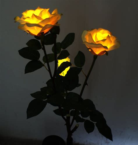 glass flower solar lights amazon com solar yellow flower lights solar