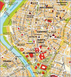 tourist map of seville map tourist attractions map travel