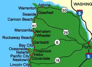 oregon coast beaches map location