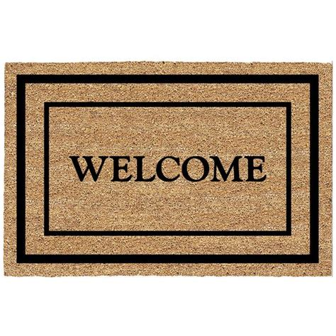Welcome Door Mat Decoir Door Mat Bordered Welcome Wishbox