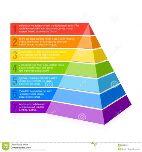 Pyramid Chart Stock Photo   Image: 26607310